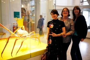 Image, Lauren, Louise and Cat (L-R) in The Manchester Museum Foyer