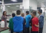 Students taking a tour of the Chemistry Lab